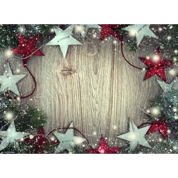 Platzset, Tischsets I Platzsets - Weihnachten - Weihnachtsdeko - Weihnachtssterne in rot und silber - 12 Stück aus hochwertigem Papier 44 x 32 cm, Tischsetmacher, (12-St)