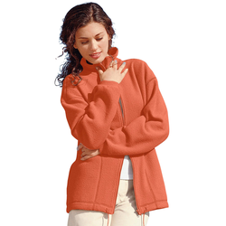Casual Looks Fleece-Jacke orange Damen Fleecejacken Jacken Mäntel Jacken, kurz