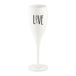 KOZIOL Sektglas Cheers No. 1 Love, Kunststoff