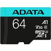 A-Data microSDXC Premier Pro 64GB Class 10 UHS-I V30 + SD-Adapter