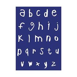 Rayher Siebdruckschablone abc Handschrift blau