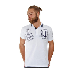 RedBridge Poloshirt Orlando im Slim Fit mit Stickerei weiß M