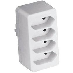 GAO 0130 4fach Steckdosen-Verteiler Weiß