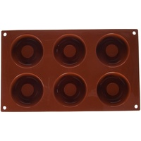silikomart Form Donuts, 72 mm, terracotta