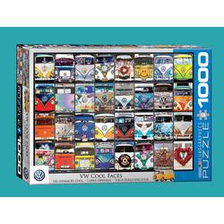 empireposter Puzzle VW Volkswagen Bus Gesichter - 1000 Teile Puzzle im Format 68x48 cm, 1000 Puzzleteile