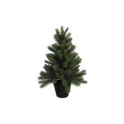 Künstlicher Weihnachtsbaum, mit schwarzem Kunststoff-Topf 60 cm