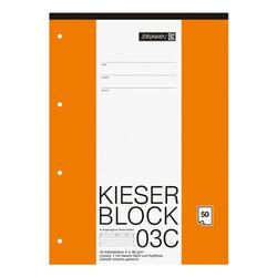 Kieserblock »KIESER 07 0003 C 1042923« A4 Sonderlineatur (Lineatur 3), Brunnen