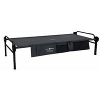 Disc-O-Bed Feldbett mit Seitentaschen, 208x100x41cm, schwarz