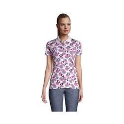 Supima-Poloshirt, Damen, Größe: L Normal, Weiß, Baumwolle, by Lands' End, Weiß Sonnenschirm - L - Weiß Sonnenschirm