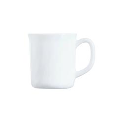 Arcoroc Becher Trianon Uni, Opalglas, Bockbecher Kaffeebecher Kaffeetasse 290ml Opalglas weiß 6 Stück Ø 8.2 cm x 9 cm