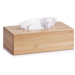 Zeller Bamboo Kosmetiktücher-Box, Praktische Kosmetiktücher-Spenderbox in zeitlosem Design, Größe: 27,5 x 14,5 x 8,5 cm