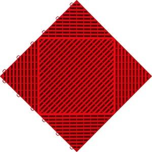 florco® Terrassenplatten classic, 40x40 cm, 6-St., Klickfliesen rot