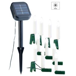 Solar-Lichterkette für Außen mit 10 flackernden LED-Kerzen