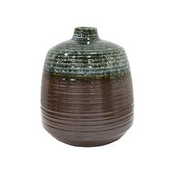 HKliving Blumenvase Keramik Grün/Braun