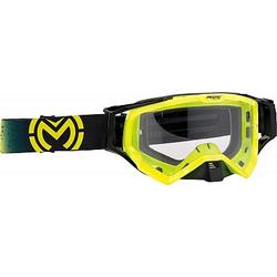 Moose Racing XCR S21 Galaxy Crossbrille Herren - Neon-Gelb/Schwarz Klar - one size