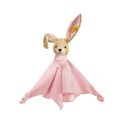 Steiff Schmusetuch Hoppel Hase Schmusetuch, rosa, mit Knopf im Ohr.