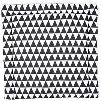 KraftKids Wickelauflage schwarze Dreiecke, Wickelunterlage 85x75 cm (BxT), Wickelkissen