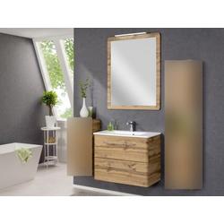 Badezimmer Beta in Eiche 3 teilig mit Waschbeckenunterschrank inklusive Becke...