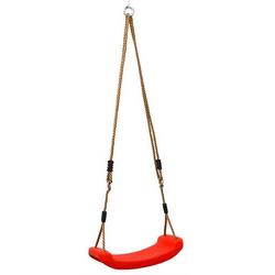 Kinder Brettschaukel 43x17,5cm 100 kg Gartenschaukel Brettschaukel Schaukelsitz Rot