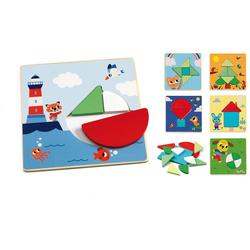 DJECO Steckpuzzle Steckpuzzle Tangramini, Puzzleteile