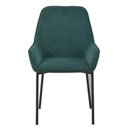 Esstisch Stühle in Grün Stoff Metallgestell (2er Set)