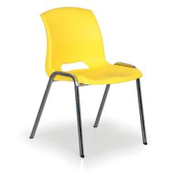Stapelbarer stuhl cleo, gelb