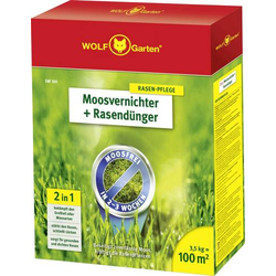 Wolf Garten 3841020 Moosvernichter + Rasendünger SW 100