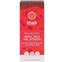 Khadi Naturkosmetik Pflanzenhaarfarben - Henna. Amla & Jatropha 100g