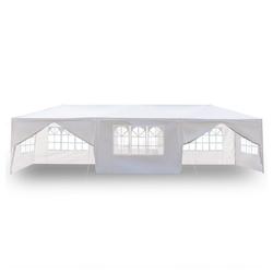 FCH Partyzelt, 3x9m Pavillon Festzelt Partyzelt Gartenpavillon Wasserdicht Gartenzelt mit 8 seitenteilen