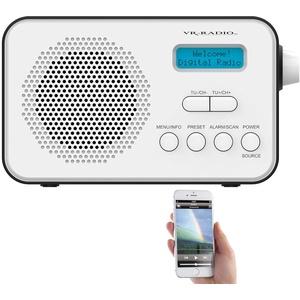 VR-Radio DAB Radio: Mobiles Akku-Digitalradio mit DAB+ & FM, Wecker, Bluetooth 5, 8 Watt (Akku Radio)