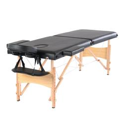 FCH Massageliege Massagebank klappbare Therapieliege (Set, mit Tasche), Tragbares Massagebett Massagetisch Arbeitsgewicht bis zu 250 kg schwarz