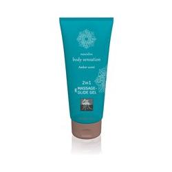 """Massage- und Gleitgel """"2in1 Amber Scent"""", 200 ml"""