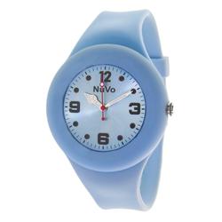 Nuvo Schlichte blaue Unisex Armbanduhr mit analoger Anzeige