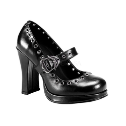 Gothic Mary Jane Pumps CRYPTO-05 - Schwarz