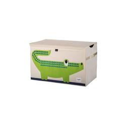 3 Sprouts Aufbewahrungsbox Aufbewahrungskiste Krokodil, 38 x 61 cm grün