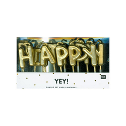 Rico-Design Verlag Formkerze Kerzen Happy Birthday, Gold