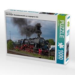 Unter Dampf - Eisenbahnromantik aus vergangener Zeit Lege-Größe 64 x 48 cm Foto-Puzzle Bild von Peter Härlein Puzzle