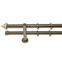 Gardinenstange Palma, GARESA, Ø 20 mm, 2-läufig, Fixmaß Ø 20 mm x 160 cm