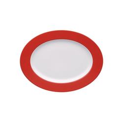 Thomas Porzellan Servierplatte Sunny Day New Red Platte 33 cm, Porzellan, (1-tlg)
