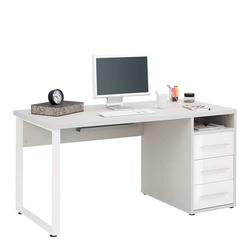 Computer Schreibtisch in Weiß 150 cm breit