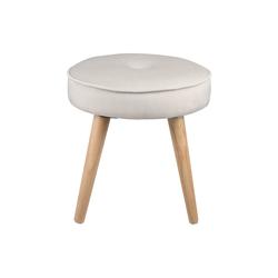Ribelli Hocker, Hocker Sitzhocker Fußhocker Polsterhocker Sitz gepolstert Ø 40cm grau pink beige weiß