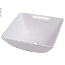 Design-Waschbecken viereckig weiß mit 12V LED Beleuchtung