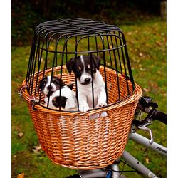 TRIXIE Tierfahrradkorb, bis 8 kg, mit Gitter, BxTxH: 44x48x33 cm beige Hundetransport Hund Tierbedarf Tierfahrradkorb