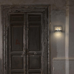 Quarantasei Outdoor Hausnummer-Wandleuchte