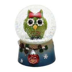 Dekohelden24 Schneekugel Schneekugel, Eule, Maße H/B/Ø Kugel: ca. 6,5 x (1 Stück)