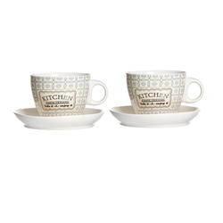 Ritzenhoff & Breker Cappuccinotasse Retro Kitchen 2er Set Blau 180 ml