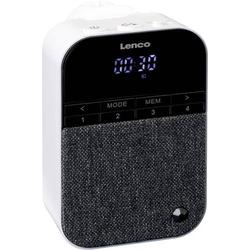 Lenco PPR-100WH Steckdosenradio UKW Bluetooth®, UKW wiederaufladbar Weiß