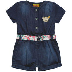 Steiff Girls Jumpsuit kurz, light blue denim