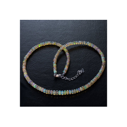 Bella Carina Perlenkette Edel Opal 4 - 5,5 mm