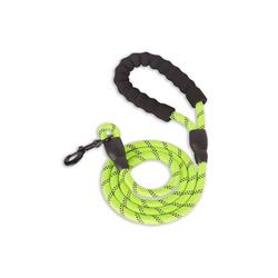 Monkimau Hundeleine Hundeleine aus Nylon, Länge: 1,5m, für große Hunde, Nylon (Packung) grün